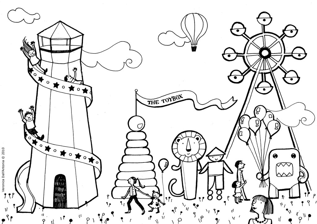 fun fair coloring pages - photo#1